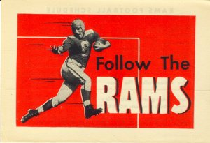 Cleveland Rams promo card