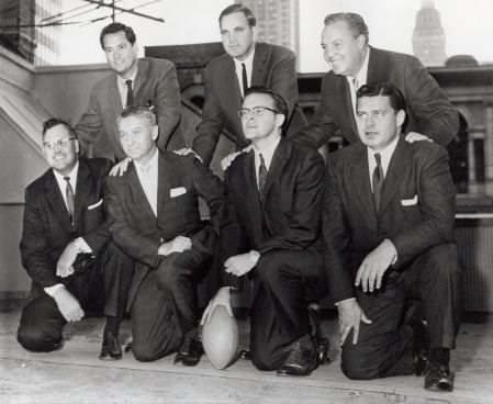 "Initial members of the ""Foolish Club"" that founded the American Football League."