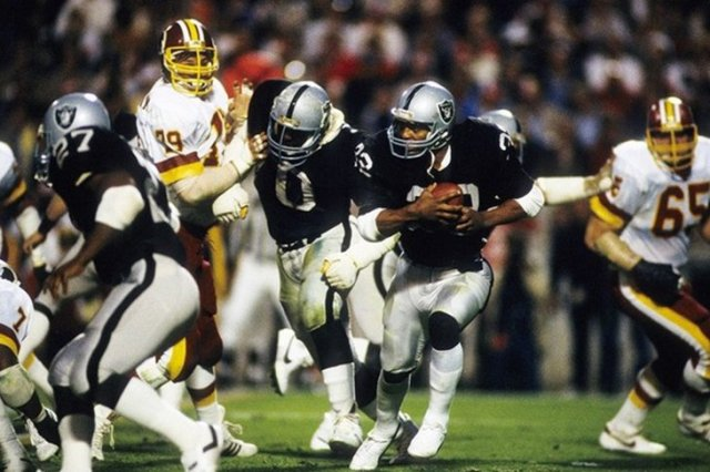 Marcus Allen's MVP performance led the Los Angeles Raiders to